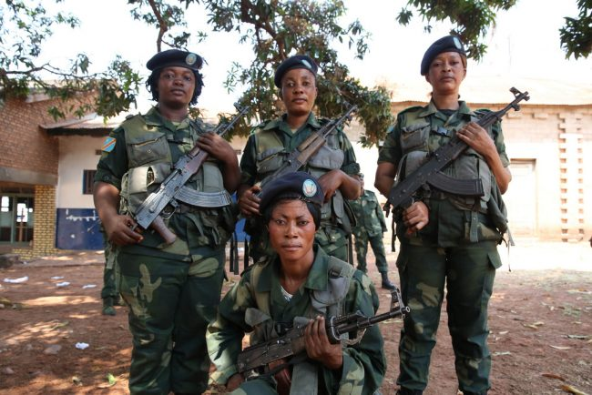 Congolese women have integrated into FARDC and provide support to ensure security in the DRC.