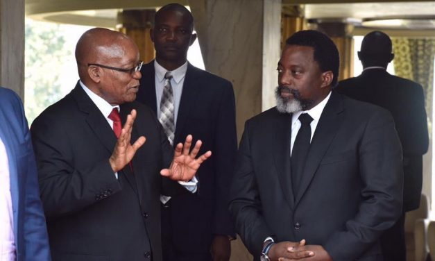 The Congolese President Joseph Kabila Meets with South African President